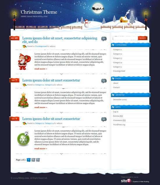 Безкоштовна новорічна, різдвяна тема для WordPress