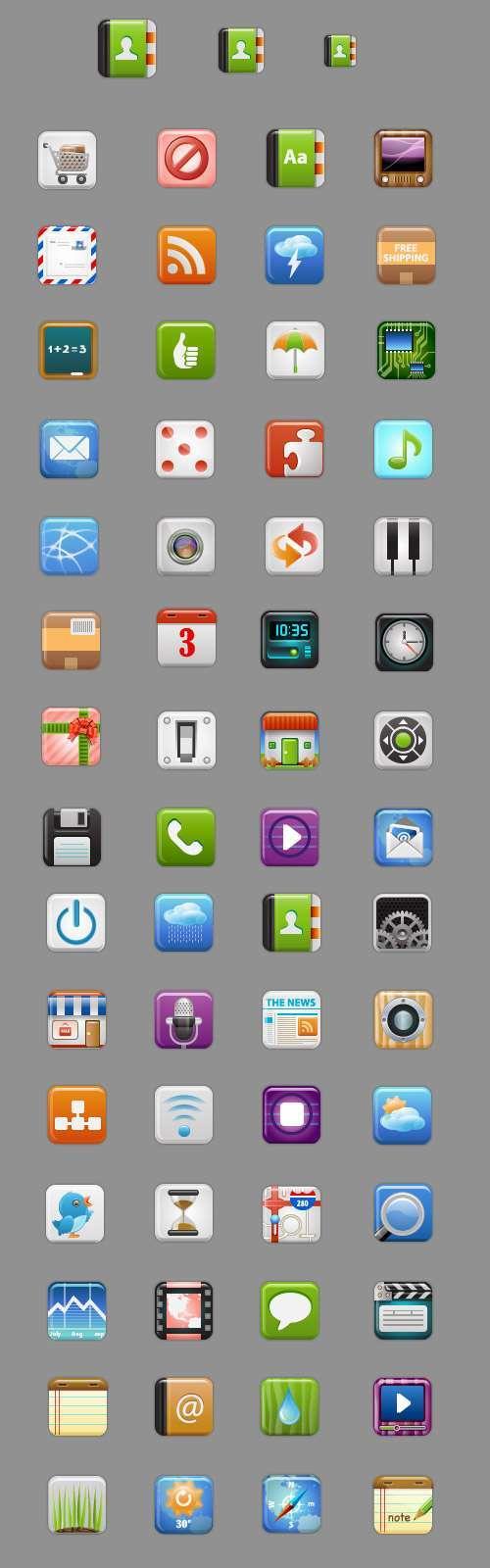 Набір з 60 безкоштовних іконок для сайту